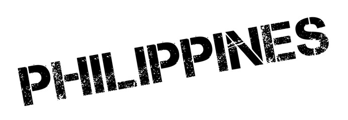 Philippines rubber stamp. Grunge design with dust scratches. Effects can be easily removed for a clean, crisp look. Color is easily changed.