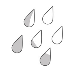 water drops icon over white background. vector illustration