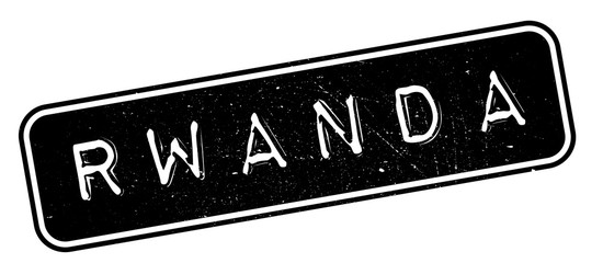 Rwanda rubber stamp. Grunge design with dust scratches. Effects can be easily removed for a clean, crisp look. Color is easily changed.