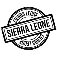 Sierra Leone rubber stamp. Grunge design with dust scratches. Effects can be easily removed for a clean, crisp look. Color is easily changed.