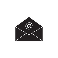 Open mail solid icon, representing email, envelope, social media, vector graphics, a filled pattern on a white background, eps 10.