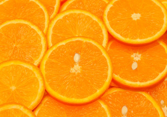 Orange slice closeup