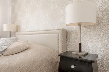 Bedroom interior in luxury apartment