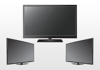 3 Large Computer/TV Monitor Illustrations