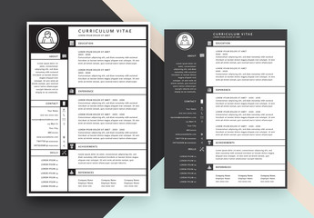 Grid Style CV Layout