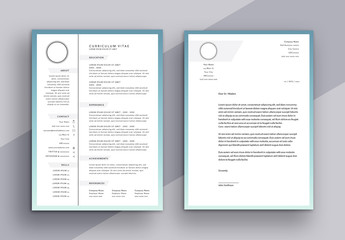 Minimalist CV and Cover Letter Layout with Grayscale Tabs