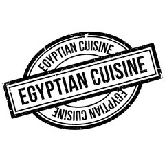 Egyptian Cuisine rubber stamp. Grunge design with dust scratches. Effects can be easily removed for a clean, crisp look. Color is easily changed.