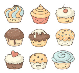 Happy muffin set