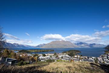 View of Queenstown, Queenstownhills, South Island, New Zealand