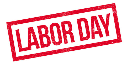 Labor Day rubber stamp. Grunge design with dust scratches. Effects can be easily removed for a clean, crisp look. Color is easily changed.