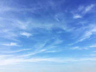 Fantastic soft white cloud against blue sky background, soft foc