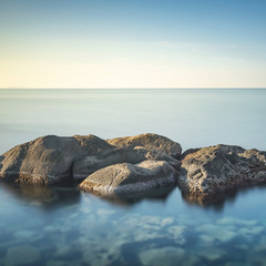 Rocks and sea in zen style.