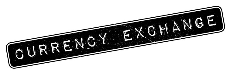 Currency Exchange rubber stamp. Grunge design with dust scratches. Effects can be easily removed for a clean, crisp look. Color is easily changed.