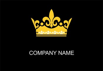 Luxury crown vector logo