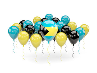 Flag of bahamas with balloons