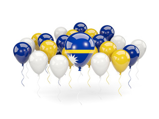 Flag of nauru with balloons