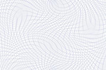 Guilloche background. Monochrome guilloche texture with waves. Original money pattern. For certificate, voucher, banknote, money design, currency, note, check, ticket, reward etc