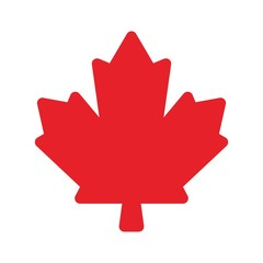 canada maple for health care logo. vector icon.