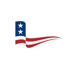 united state flag for campaign.