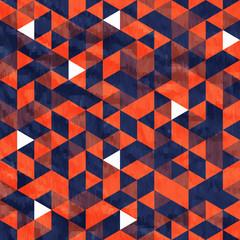 Seamless Orange Pattern of geometric shapes