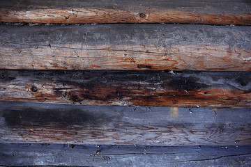 background texture of wooden planks logs bark