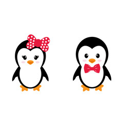 cute penguins set