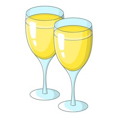 Wedding glasses icon. Cartoon illustration of wedding glasses vector icon for web design