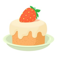 Cake icon. Cartoon illustration of cake vector icon for web