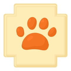 Dog paw icon. Cartoon illustration of dog paw vector icon for web