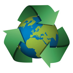 Recyclage - écologie - Terre