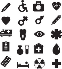 Medical icon set, vector illustration