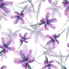 Carnation FLowers Seamless Pattern. Design Template.