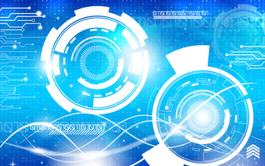 Blue technology background and abstract digital tech circle.copy space.