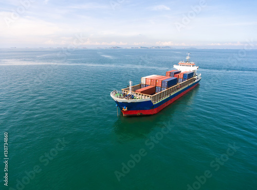 Container Ship In Import Export And Business Logistic By
