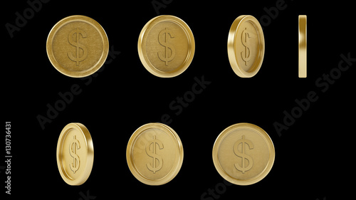 High Resolution Shiny Metal Gold Coins With Transparent Background For Mobile Games