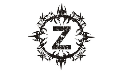 Rough Letter Z