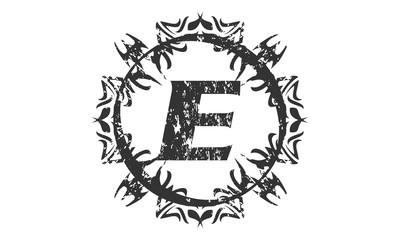 Rough Letter E