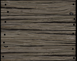 Old gray rough horizontal wooden board texture background in grunge style