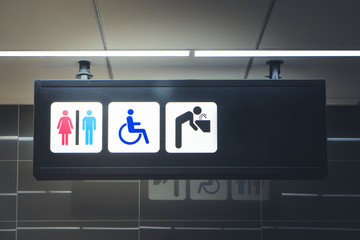 Signs toilet.