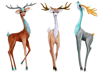 Marker characters fashion deers.