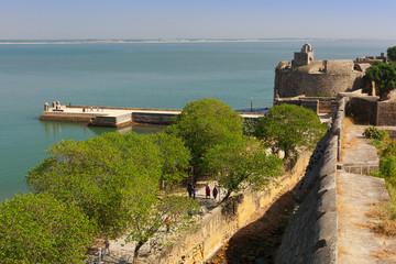 Foto auf Leinwand Befestigung View of Diu fort. Diu, India