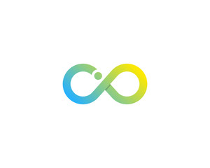 Letter I Infinity Logo Design Element