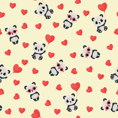 Seamless Saint Valentine's Day pattern