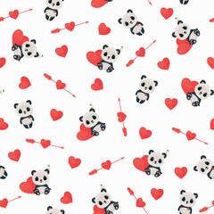 Seamless Saint Valentine's Day pattern
