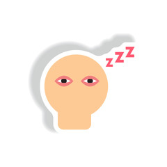 insomnia Vector paper sticker various symptoms of leukemia fatigue