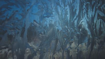 Frostwork close-up texture