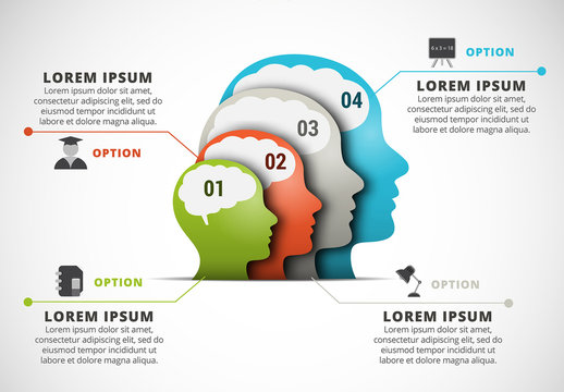 Profile Silhouettes Element Infographic