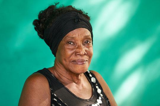 Real People Portrait Happy Elderly African American Woman