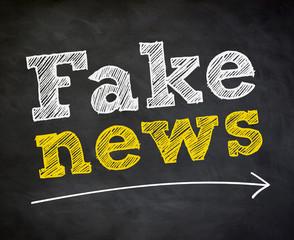 Fake News - chalkboard concept