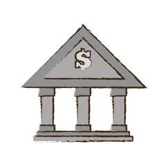 drawing building bank money finance vector illustration eps 10